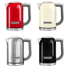 kitchenaid 1 7 ltr kettle 5kek1722 curly available in steel cream or red basil knipe electrics ballymoney northern ireland