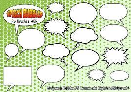 Photoshop Speech Bubble Speech Bubbles Ps Brushes Abr Vol 5 Vintage Photoshop