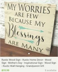 diy wall decor sayings my worries are few rustic wood sign chalkpaint homedecor dsdecor