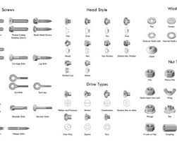 Screw Head Styles Chart 36 Types Of Screws And Screw Heads Ultimate Chart Guide