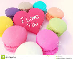 Beautiful Love Heart With Macaron, Cute ...