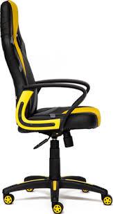 <b>Кресло Tetchair RUNNER</b> (<b>кож/зам/ткань</b>, черный/жёлтый, 36-6/tw ...
