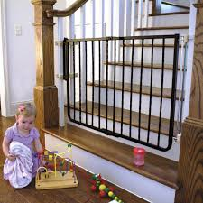 Gate For Stairs Evenflo Safety Lock Baby Gate 29 42 With Swing Door Walmartcom