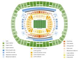Meadowlands Seating Chart For Concerts 48 Veracious Concert Seating Chart For Metlife Stadium