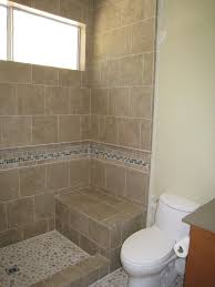 Shower Stall Without Door With Border Tile And Chair For Simple Bathroom / Showers  Shower Stalls For Small Bathrooms Ideas With Corner Style And Door Or ...