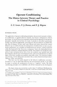 operant conditioning the hiatus between theory and practice in inside