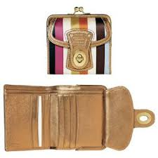 40240 COACH LEGACY STRIPED FRAMED FRENCH PURSE WALLET