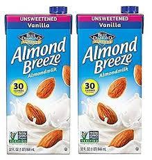 health alternative plus almond milk almond breeze vanilla unsweetened x2