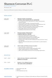 Physician Assistant Sample Resume Incredible Physician Assistant Resume Template Modern