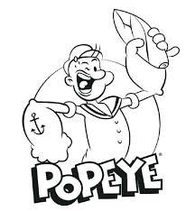 Popeye The Sailor Man Coloring Pages Characters From Moives