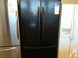 kenmore fridge black. inspiring kenmore refrigerator french door with ice maker black metal fridge