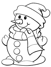 Small Picture Snowman coloring pages wearing scarf and hat ColoringStar
