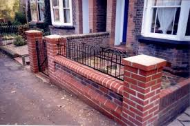 Small Picture Front Garden Brick Wall Designs Thestoneyconsumercom
