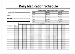 Daily Medication Chart Template Printable Patient Medication Chart Sample Www Bedowntowndaytona Com
