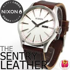 new work spring for nixon nixon silver brown sentry leather na1051113 00 2 012 years