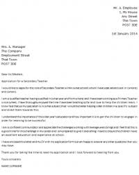 Awesome Collection Of Cover Letter High School Teacher Cover Letter