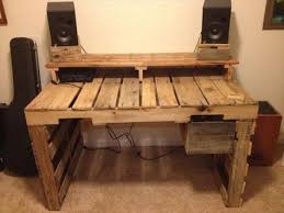 office desk europalets endsdiy. Wooden Pallet Desk With Attached Drawers Office Europalets Endsdiy