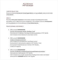 Resume Format For Php Developer Fresher Download Resumes Cool Mysql Resume