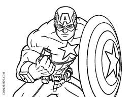 Free Captain America Coloring Pages Colouring