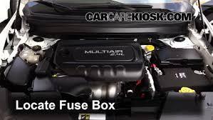 blown fuse check 2014 2019 jeep cherokee 2015 jeep cherokee locate engine fuse box and remove cover