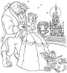 Free Beauty And The Beast Coloring Pages 2017 Staranovaljainfo