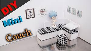 dollhouse furniture diy.  Dollhouse Doll Couch  DIY Miniature Dollhouse Furniture  Tutorial And Dollhouse Furniture Diy