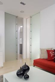 full height frameless glass cavity sliders