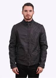 h racer blouson cotton jacket black