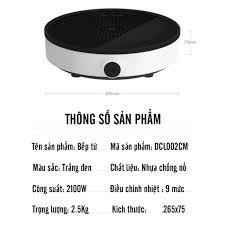 Bếp Điện Từ Tròn Đơn Xiaomi Mijia Mi DCL002CM Bếp Từ Ăn Lẩu Dạng Tròn Mặt  Kính Cường Lực Công Suất 2100W Cao Cấp chính hãng 755,000đ