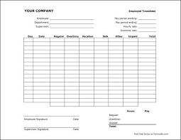 Free Semi Monthly Timesheet Landscape Time Sheet