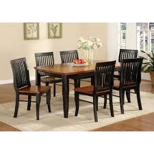Shop Furniture Of America Burwood Antique Oak Black Wood Dining
