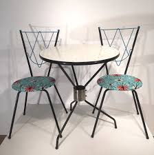 vintage dining set with 1 table and 2