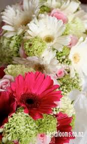 flowers for the wedding. gerbera wedding bouquets all packaged up and ready for the day flowers a