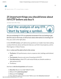 Https Www Finstead Com Posts Ishares Ivv Etf Review By