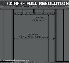 pocket door rough openings source a what is the rough opening for a inch door door