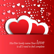 love wallpaper with name