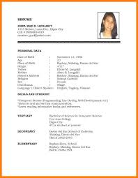 Samples Of Simple Resumes Sample Simple Resume Format The Of For Job