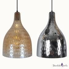 amber chrome glass bottle shape hanging light 1 light traditional ceiling light for bedroom