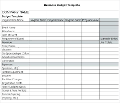 Sales Budgets Templates Expense And Revenue Template Income Statement Examples Templates