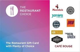the restaurant choice gift cardspecial offer