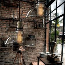 lighting industrial look. Vintage American Country Style Industrial Clear And Amber Glass Cover Lampshade Pendant Hanging Light Chandelier Celing Lighting Look O