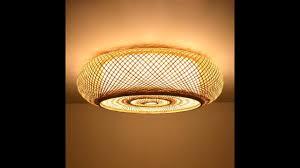 Woven Ceiling Light Shade Hand Woven Bamboo Wicker Rattan Round Lantern Shade Ceiling Light Fixture