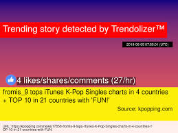 Itunes Top 10 Singles Chart Fromis_9 Tops Itunes K Pop Singles Charts In 4 Countries