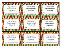 Students Holiday Gift Tags