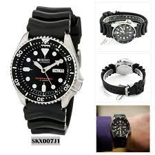 mens divers watches seiko analog sport watch automatic diver s black mens skx007j1