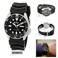 mens divers watches seiko analog sport watch automatic diver s black mens skx007j1