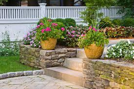 Small Picture Stone Seat Walls Cording Landscape Design