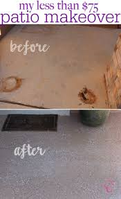 easy front porch makeover under 75 with behr paint behr concrete paintdiy stamped concretepainted patio
