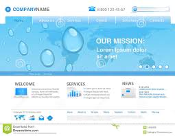 Water Drops Template Website Template Water Drops Stock Vector Illustration Of