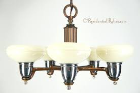 glass shades for chandelier vintage 5 light deco chandelier with custard glass shades circa 1940s mercury glass shades